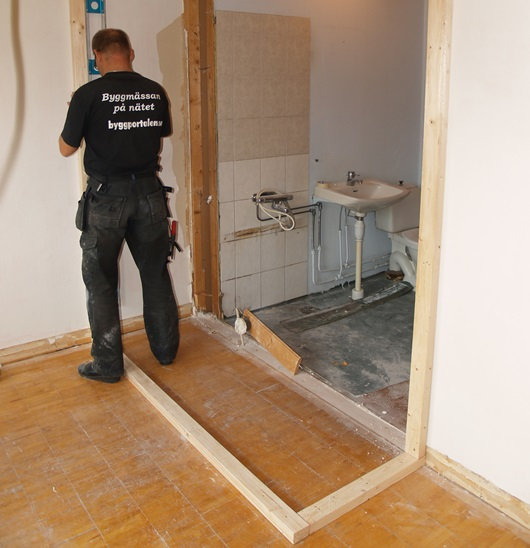 Badrumsrenovering under tiden