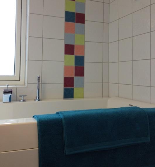Nya färger i badrummet